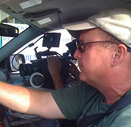 Steve Lasky driving DP with camera